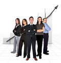 Business team in front of a graph Stock Images