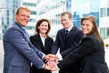 Business team in front of the office Royalty Free Stock Images