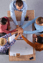 Business team with hands together teamwork concepts Stock Photography