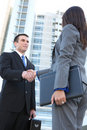 Business Team Handshake Stock Photo