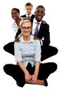 Business team having great time at work Royalty Free Stock Photo
