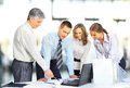 business team having meeting in office Royalty Free Stock Photo