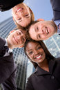 Business team - heads together Royalty Free Stock Photography