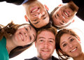 Business team - heads together Stock Photo