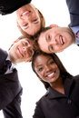 Business team - heads together Stock Images