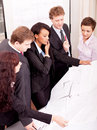 Business team looking architecture project Royalty Free Stock Photos