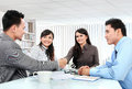 Business team making a deal Stock Image