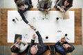 Business Team Meetng Handshake Applaud Concept Royalty Free Stock Photo