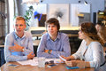 Business team negotiates talk and discuss Royalty Free Stock Photo