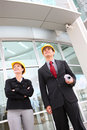Business Team at Office Construction Site Stock Image