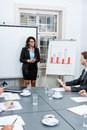 Business team in office meeting presentation conference people teamwork Royalty Free Stock Images
