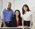 Business team posing for picture. Royalty Free Stock Photos