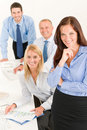 Business team pretty businesswoman with colleagues Royalty Free Stock Images