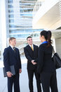 Business Team Shaking Hands Royalty Free Stock Photo
