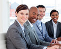 Business team showing ethnic diversity Stock Image