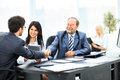 Business team with signed contract Royalty Free Stock Photo