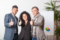 Business Team with Thums Up Royalty Free Stock Image