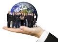 Business team work worldwide Royalty Free Stock Photo