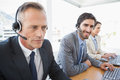 Business team working at the call center Royalty Free Stock Photo