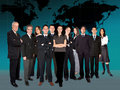 Business team worlwide Stock Image
