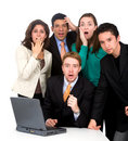 Business team worries Royalty Free Stock Photo
