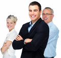 Business teams - Modern happy business people Royalty Free Stock Photo