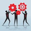 Business teamwork, Businessman silhouette