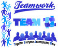Business Teamwork Clipart Set/eps Stock Photos