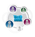 Business teamwork diagram support cycle illustration design over white Royalty Free Stock Photography