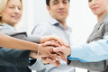 Business teamwork group of businesspeople with stacked hands showing unity and Royalty Free Stock Photography
