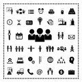 Business teamwork  icon set Royalty Free Stock Photo