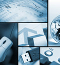 Business/technology collage Royalty Free Stock Photo