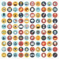 Business, technology and finances icon set for websites and mobile applications and services. Flat vector