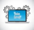 business technology online survey concept