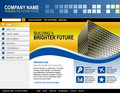 Business Technology Website Template Royalty Free Stock Photography