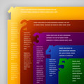 Business template plane of five pages infographic background Stock Image