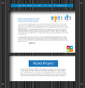 Business template web site Royalty Free Stock Photo