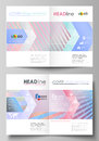 Business templates for bi fold brochure, flyer, booklet or report. Cover template, abstract vector layout in A4 size