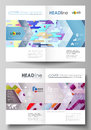 Business templates for bi fold brochure, flyer. Cover design template, abstract vector layout in A4 size. Bright color