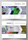 Business templates for bi fold brochure, flyer. Cover design template, abstract vector layout in A4 size. Glitched