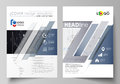 Business templates for brochure, flyer, annual report. Cover design template, vector layout in A4 size. Abstract