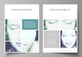 Business templates for brochure, magazine, flyer, booklet. Cover design template, Abstract layout in A4 size. Halftone Royalty Free Stock Photo