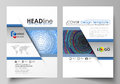 Business templates for brochure, magazine, flyer, booklet or report. Cover design template, abstract vector layout in A4