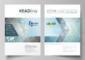 Business templates for brochure, magazine, flyer, booklet, report. Cover design template, vector layout in A4 size