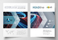 Business templates for brochure, magazine, flyer, booklet or report. Cover template, flat layout in A4 size. Abstract