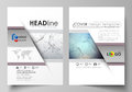 Business templates for brochure, magazine, flyer. Cover design template, vector layout in A4 size. Compounds lines and