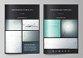Business templates for brochure, magazine, flyer. Cover design template, vector layout in A4 size. Genetic and chemical