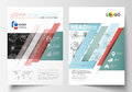 Business templates for brochure, magazine, flyer. Cover template, flat layout in A4 size. High tech design, connecting