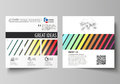 Business templates for square brochure, magazine, flyer. Leaflet cover, vector layout. Bright color rectangles, colorful