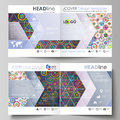 Business templates for square design bi fold brochure, flyer, booklet or annual report. Leaflet cover, abstract vector